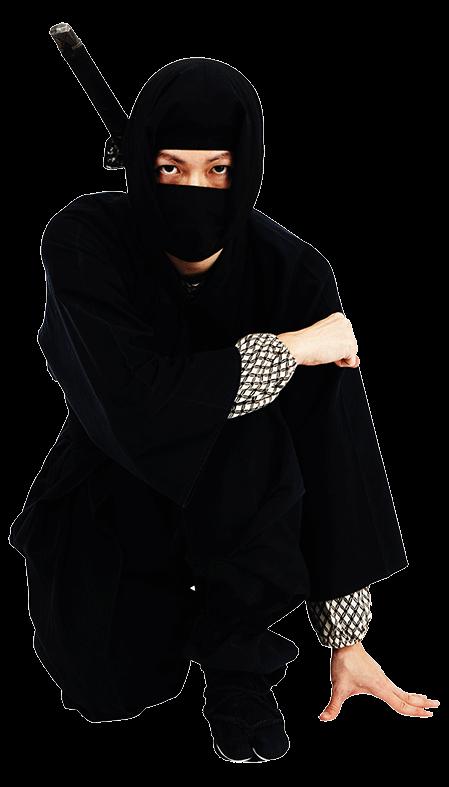 San Antonio web design ninja kneeling